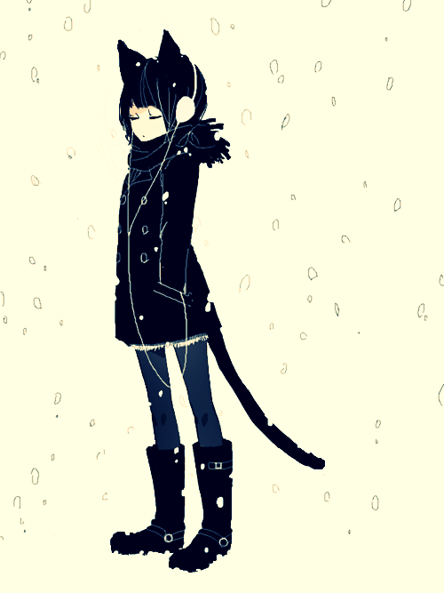 Pin By Carolina Orendain On Black Kitty Black Cat Anime Neko Art Anime