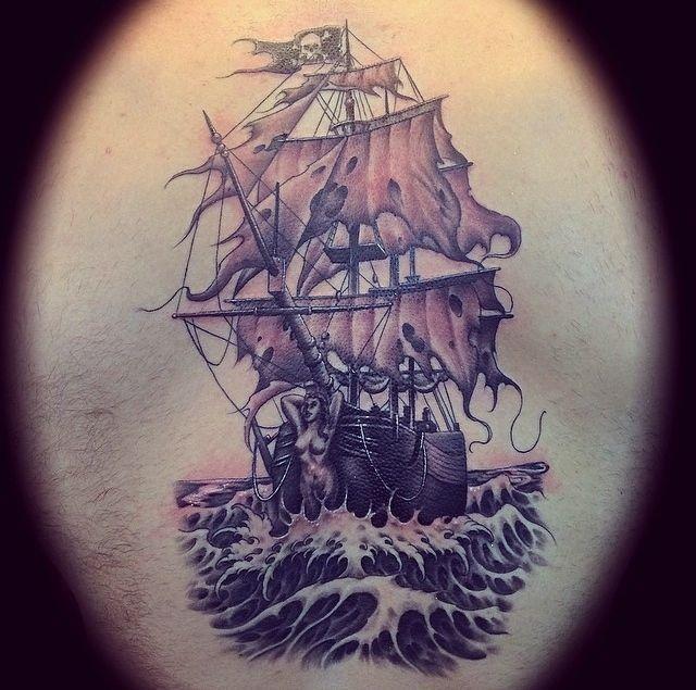ghost ship tattoo google search tats pinterest tattoo and tatting. Black Bedroom Furniture Sets. Home Design Ideas