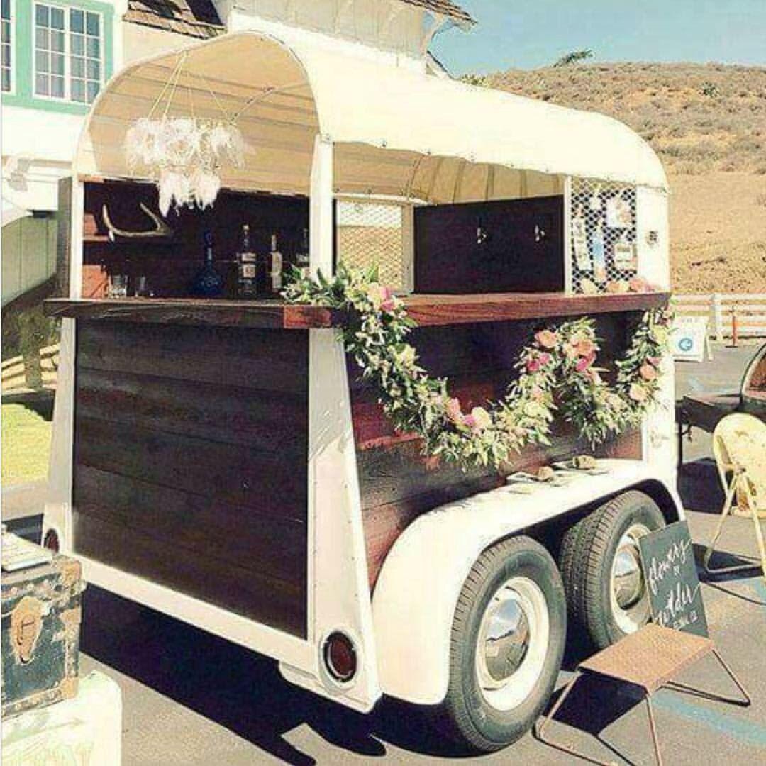 Old horse trailer now a bar wedded bliss pinterest - Mobile bar vintage ...