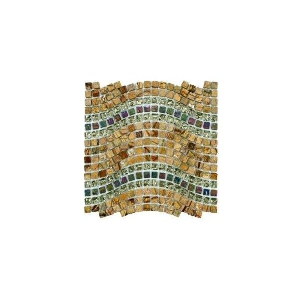 Tessera Wave Jupiter 12-1/4 in. x 11-3/4 in. Glass/Stone Mosaic Wall... ($24) ❤ liked on Polyvore