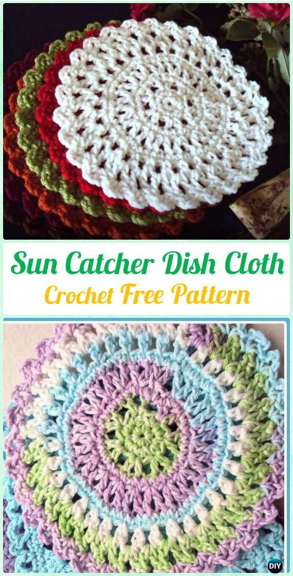 Crochet DreamCatcher & SunCatcher Free Patterns | Bolsas, Patrones y Sol