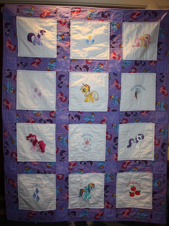 My Little Pony Machine Embroidered Lap Quilt Purple | Lap quilts ... : pony quilt - Adamdwight.com