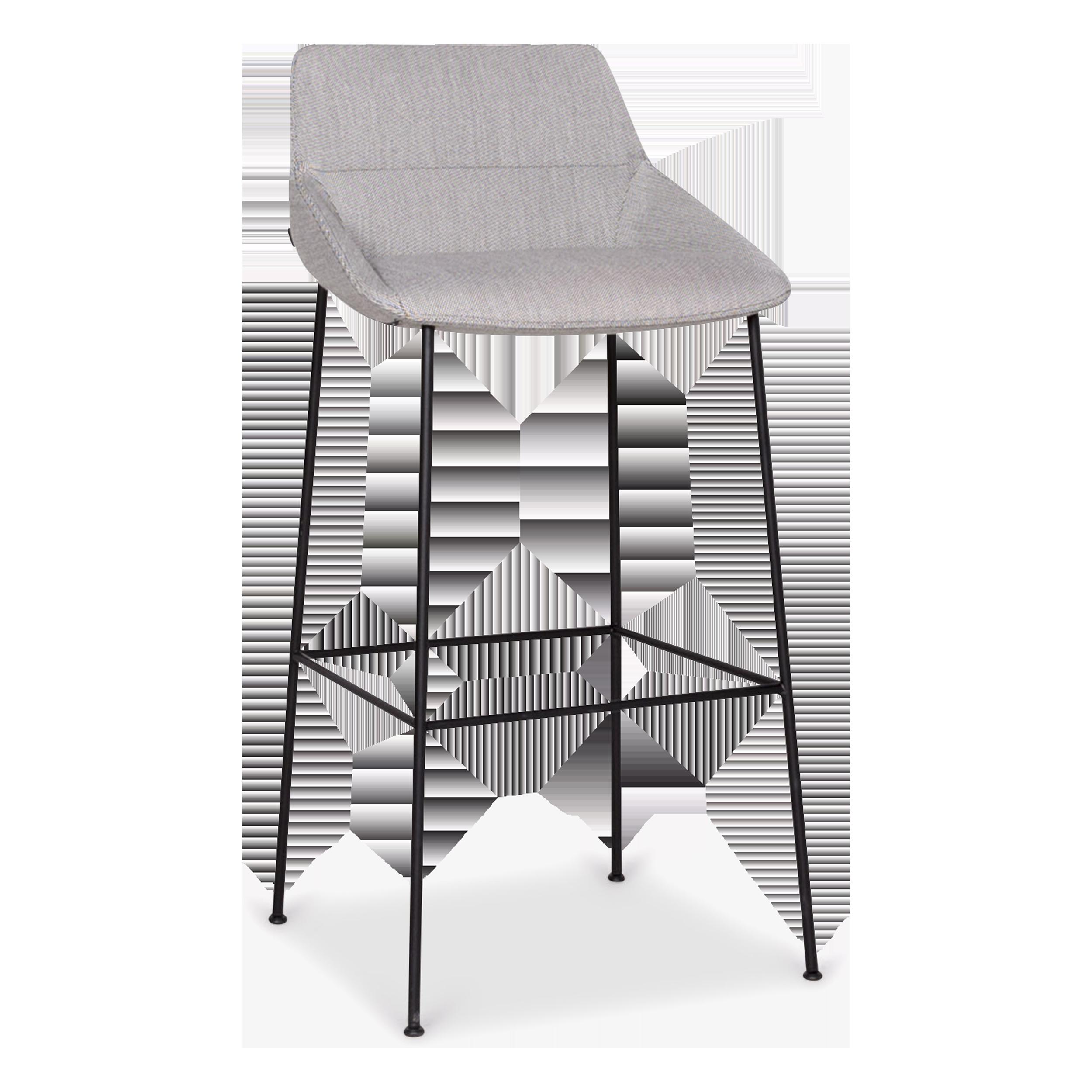 Inclass Dunas Xs Designer Fabric Armchair Barstool Gray Chair
