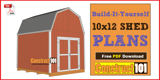 Shed Plans 10x12 Gambrel Shed With Images Shed Plans 10x12 Shed Plans Free Shed Plans