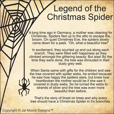 Legend of the Christmas Spider - For anyone who has seen my red ...