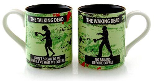 Zombie Coffee Mug Set- Female and Male Talking Walking Zombies His Her Mugs ** Remarkable product available now.: at Coffee World Coffe.