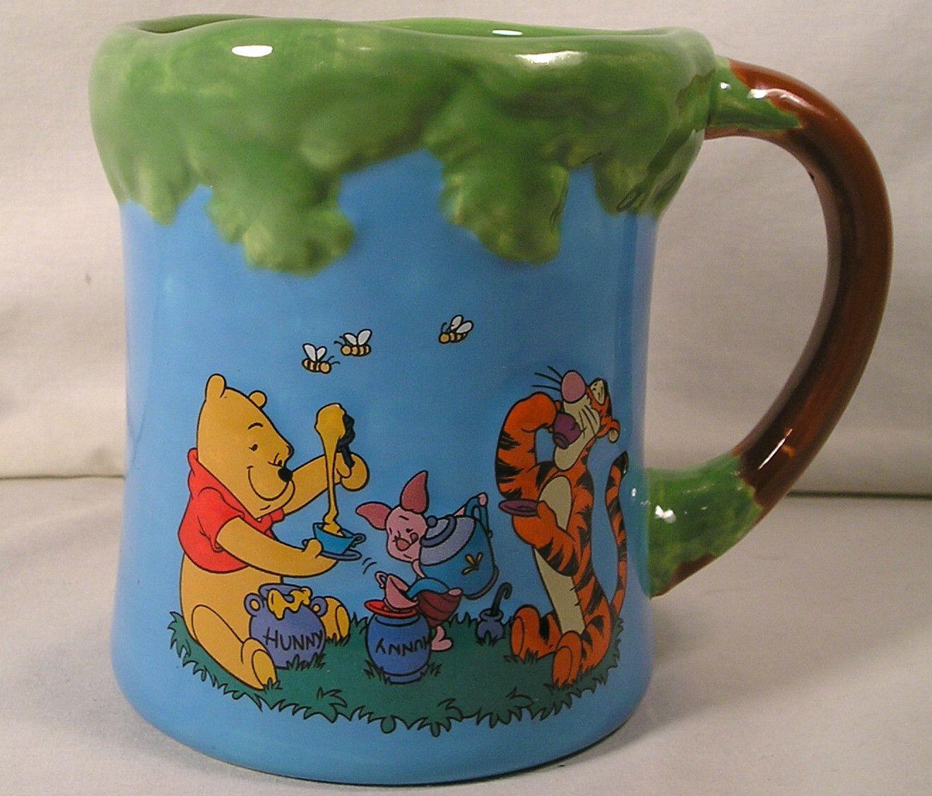 Winnie The Pooh,Tigger,Piglet Coffee Mug,Disney Mug Picnic Fun w/Pooh+Friends | eBay
