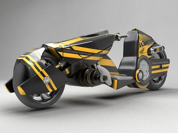 3d Model Sci Fi Motorcycle Modern Sci Fi Bike By Lsdhillon