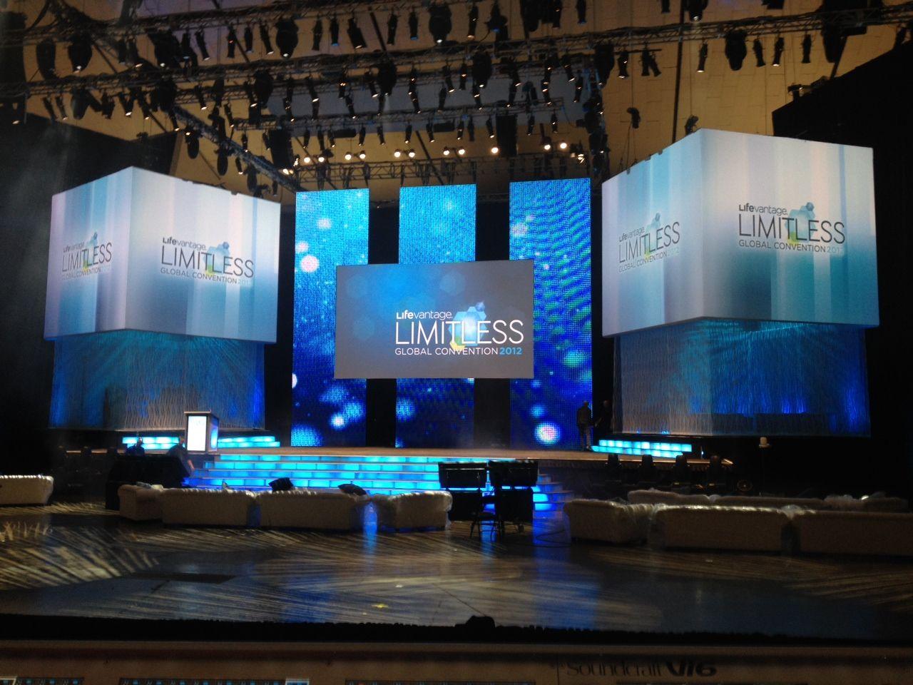 stage design projection led life vantage global conference anaheim ca led. Black Bedroom Furniture Sets. Home Design Ideas