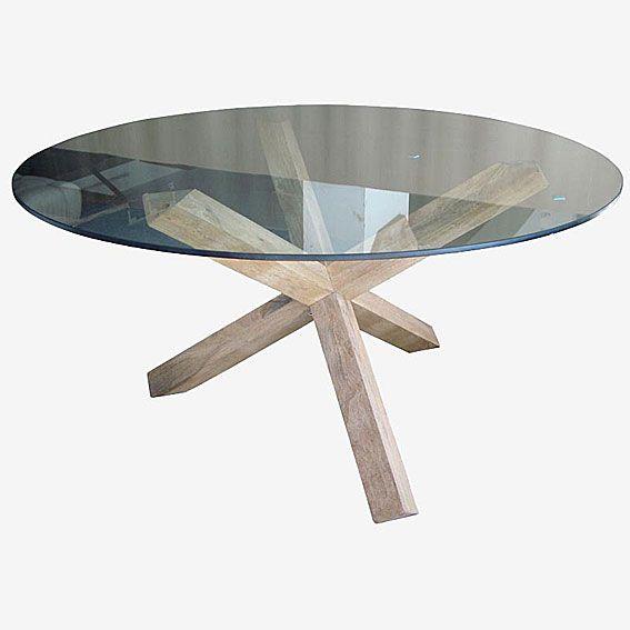 Mesa de comedor minimal cristal | Sweet home! | Mesas de comedor ...