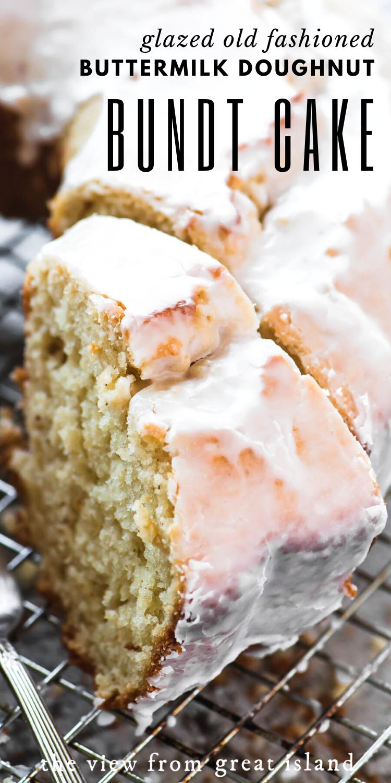 Glazed Old Fashioned Buttermilk Doughnut Bundt Cake In 2020 Buttermilk Cake Recipe Homemade Cake Recipes Buttermilk Recipes