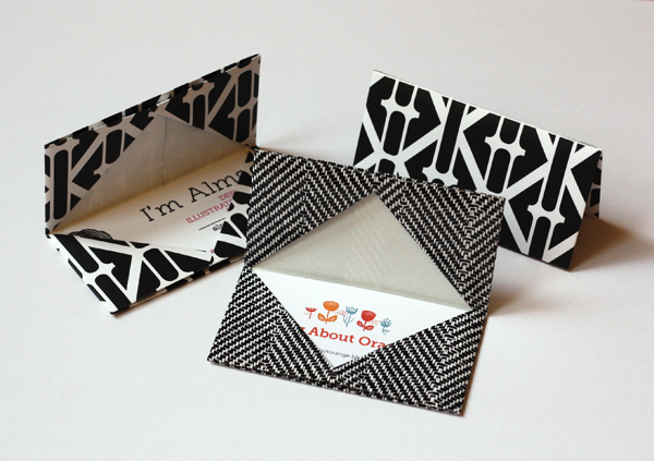 How to make an origami business card holder