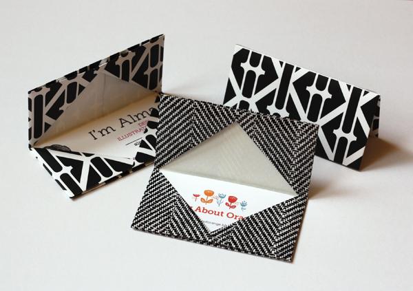 Origami Visitenkartenetui Origami Geschenke