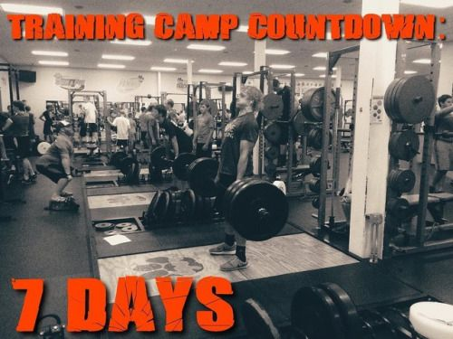 One week from today is Training Camp Day #1! If you...