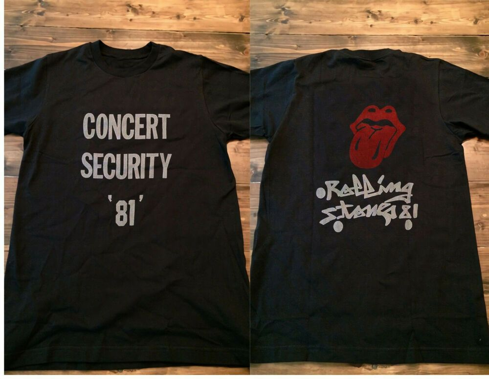 Vintage 80s 90s The Rolling Stones 1981 Concert Security Reprint