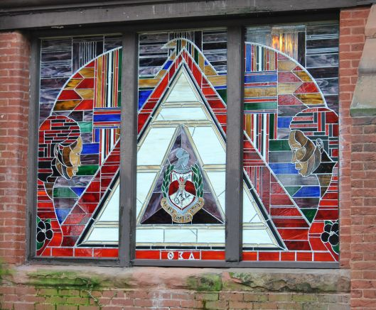 Howard University - Andrew Rankin Memorial Chapel: Delta Sigma Theta Dedication Stained Glass Window (View From Outside)