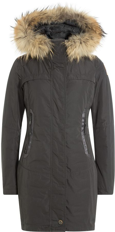 Parajumpers Selma Down Jacket with Fur-Trimmed Hood