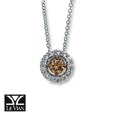 Le Vian LeVian Chocolate Diamonds 1/2 ct tw Necklace 14K Vanilla Gold JGiD4L9FJV