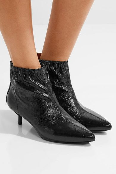 c605c52378ff 3.1 Phillip Lim - Blitz Ruched Textured-leather Ankle Boots - Black ...