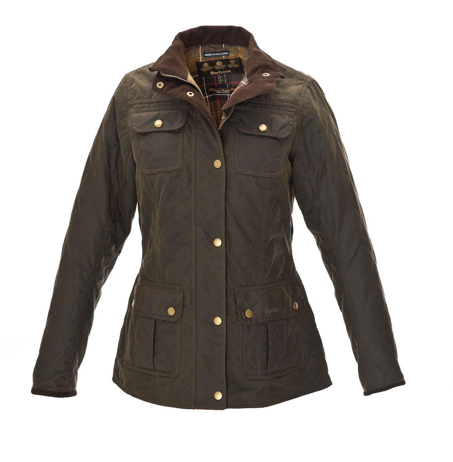 Barbour womens quilted utility waxed jacket barbour