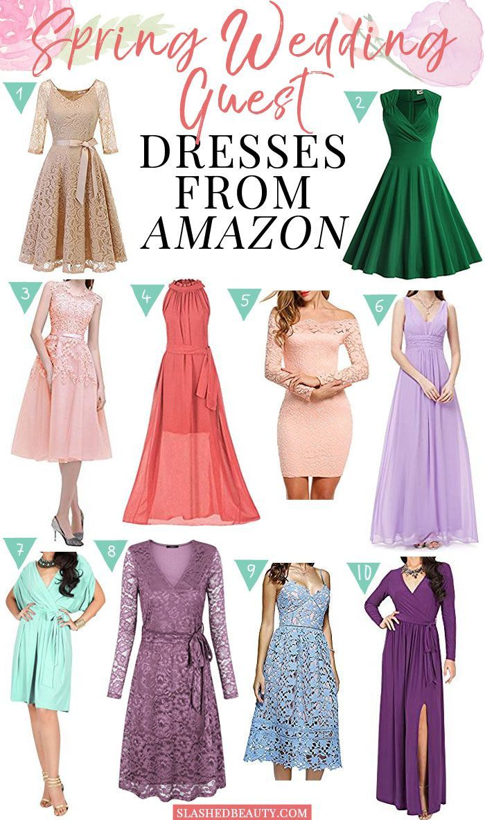 10 Spring Wedding Guest Dresses From Amazon Spring Wedding Guest Dress Wedding Guest Dress Plus Size Wedding Guest Dresses [ 1183 x 700 Pixel ]