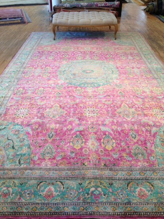 Persian Pink And Turquoise Rug Google Search