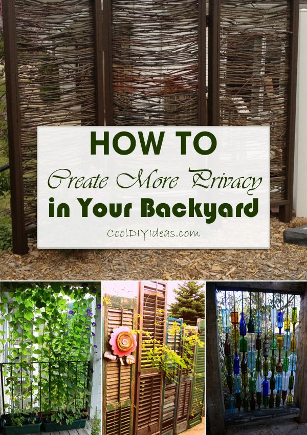12 clever ways to create more privacy in your backyard for Clever diy projects