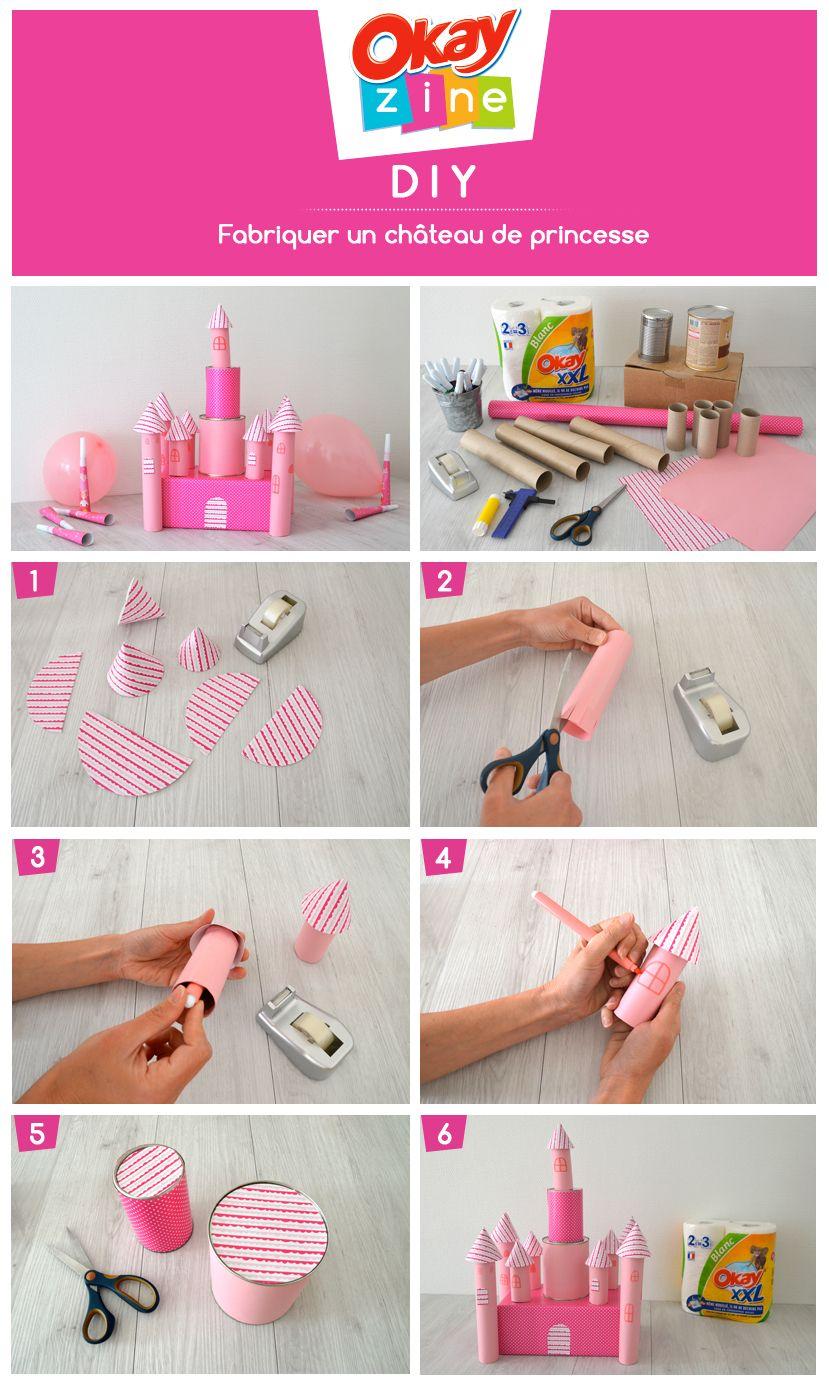 diy loisirs cr atifs un ch teau de princesse a faire avec les enfants pinterest. Black Bedroom Furniture Sets. Home Design Ideas