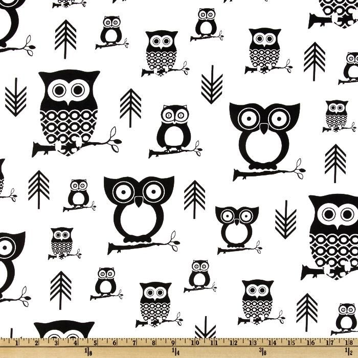 Premier prints hootie owl white black pillows