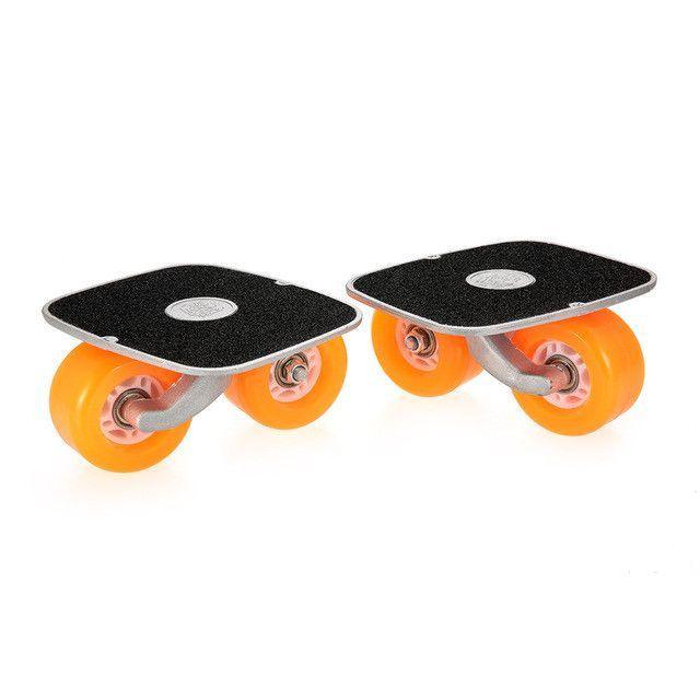 Portable Drift Board For Roller Road Drifting Roller Skates Anti Skid Skate Board Skateboard Sports Aluminum Pedal And Pu Wheels Drifting Style Brand