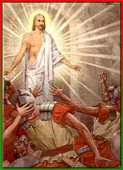 Resurrection Of Jesus Christ  Matthew 28:4 - And the guards shook for fear of Him, and became like dead men.
