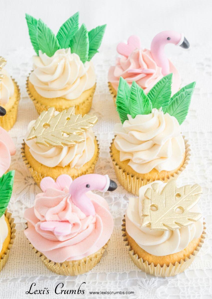 Flamingo & pineapple cupcakes