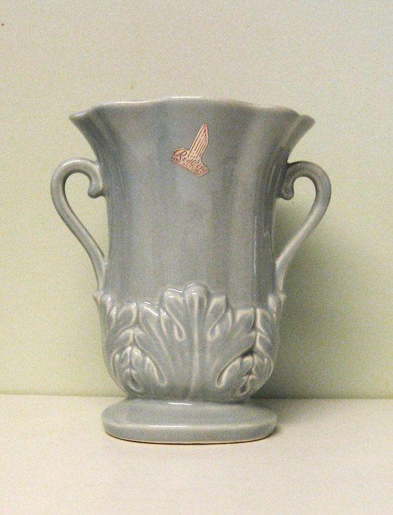 Vintage Red Wing Pottery Vase Usa 1357 By Lizziewhitevintage 2000