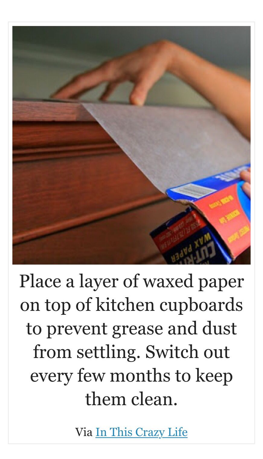 Keep Dust And Grease Away From Cupboards Clean Kitchen Cabinets Cleaning Kitchen Cabinet Remodel