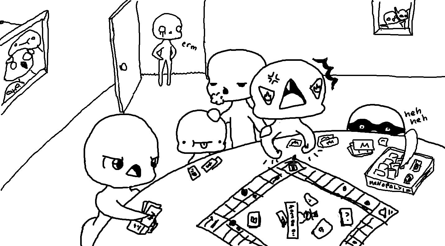 Chibis Playing Board Games Monopoly Cute Base By Kuruka Mekishime