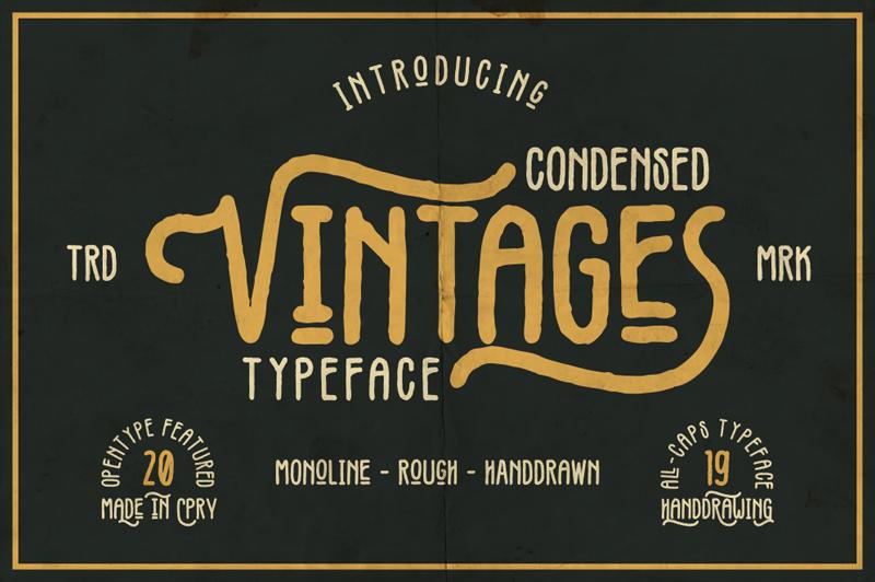 Vintages Font Dafont Com Vintage Fonts Rustic Font Typeface