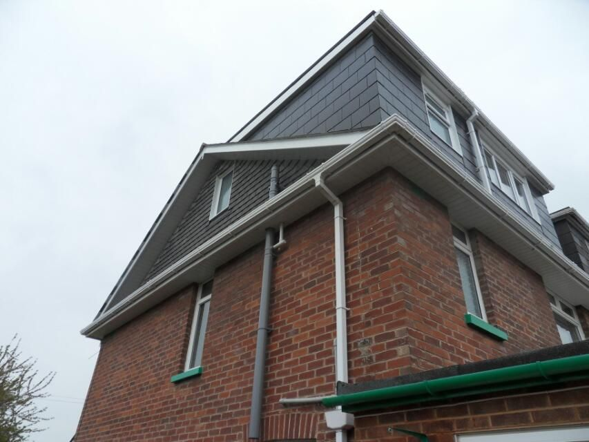 Hip To Gable With Rear Flat Roof Dormer Home Exterior