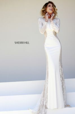 Sherri Hill Dresses Prom Dresses Long With Sleeves Lace Evening Gowns Long Sleeve Prom