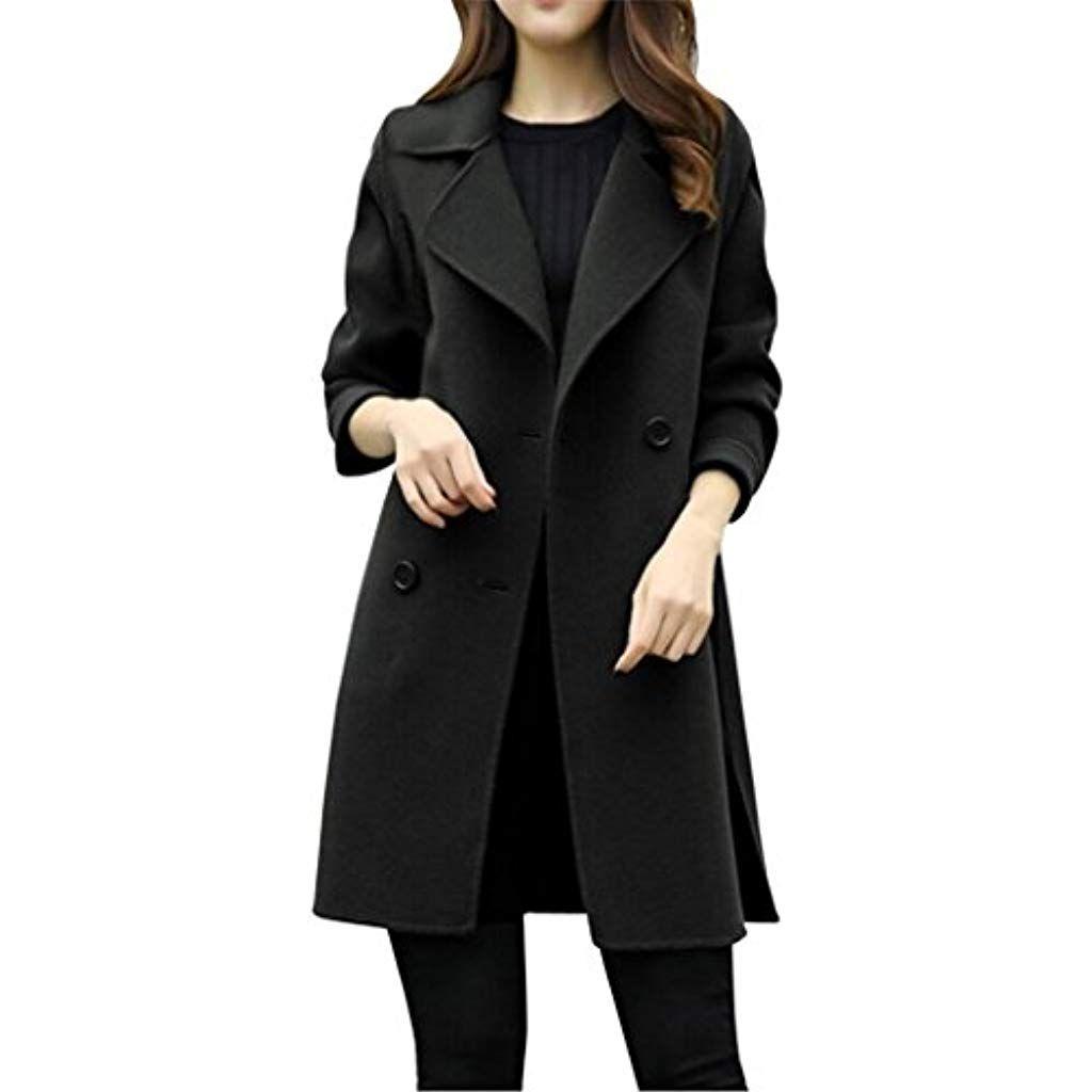 d5930e65776edf Donne-Mondo Donna Lunga Cappotto Autunno Lungo Cappotto Eleganti Giacche  Manica Lunga Cardigan Cappotto Parka