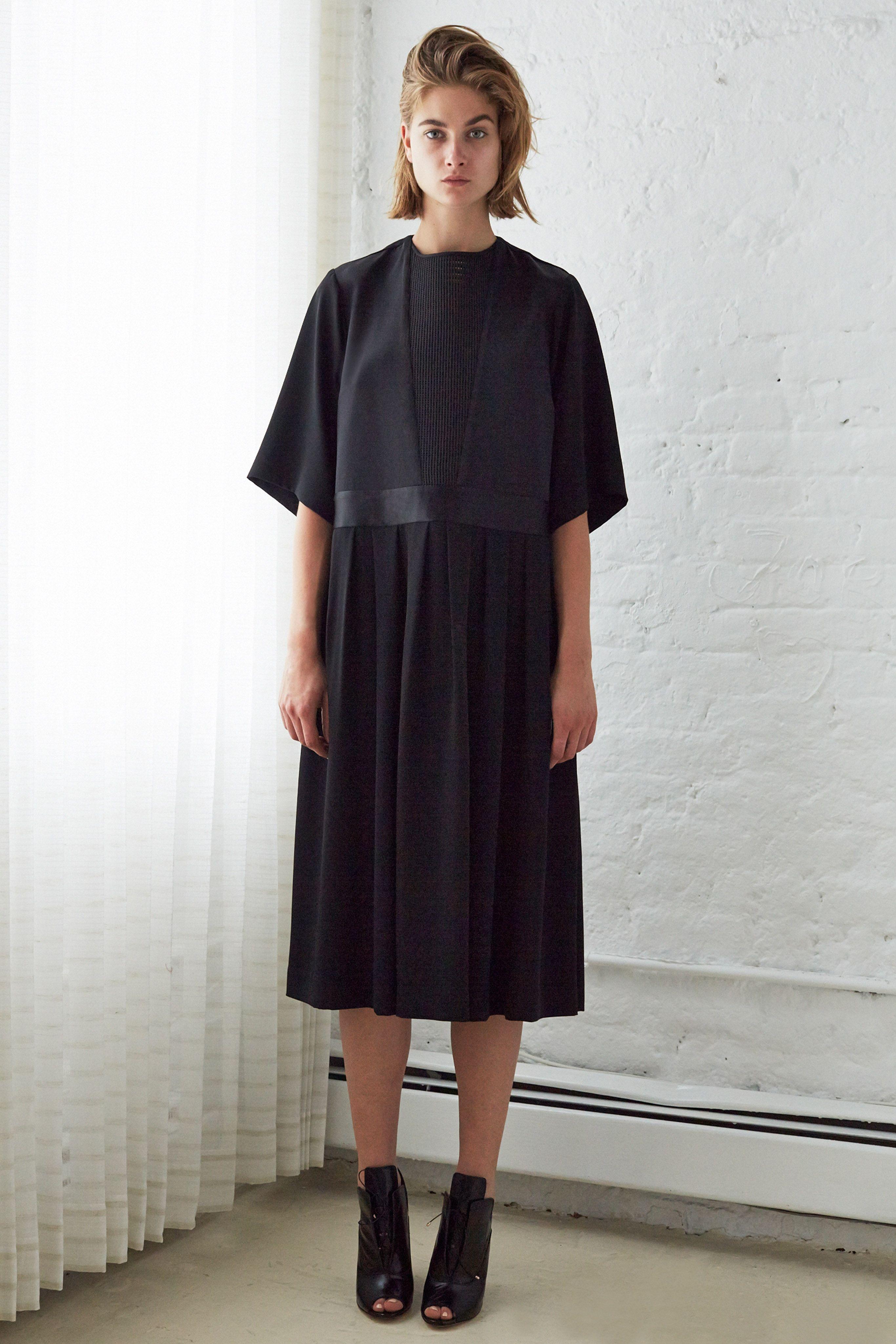 walter box pleat dress