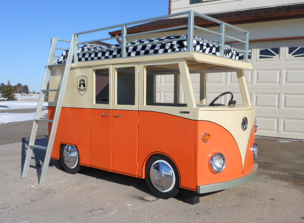 Vw bus hochbett selber bauen do it yourself ideen - Bus kinderbett ...