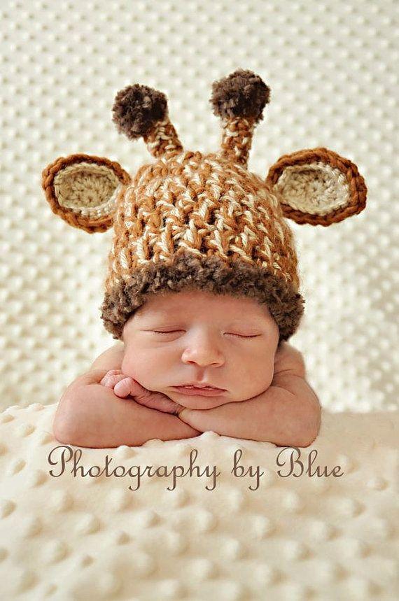 The Original Unique Newborn Baby Crochet Giraffe Hat Photo Prop Halloween Costume Inspiration Baby Hat Patterns Crochet Baby Hats Crochet Baby