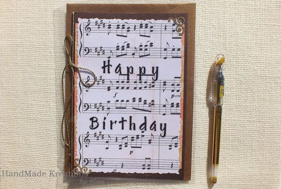 Happy Birthday Greeting Card Sheet Music Birthday Card Etsy Birthday Greeting Cards Happy Birthday Greeting Card Happy Birthday Song
