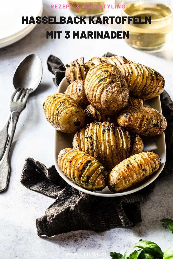 Knusprige Hasselback Kartoffeln in drei Varianten - Klara & Ida