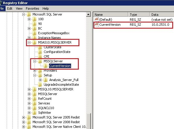 Find the SQL Server Analysis Services and Reporting Services