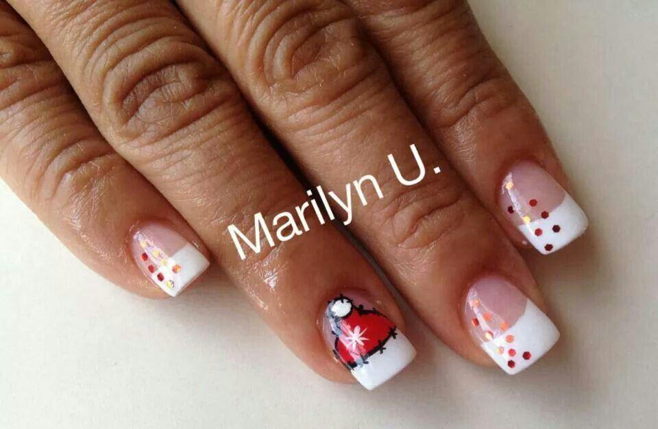 Santa Hat Christmas Nails Nail Colors Nails