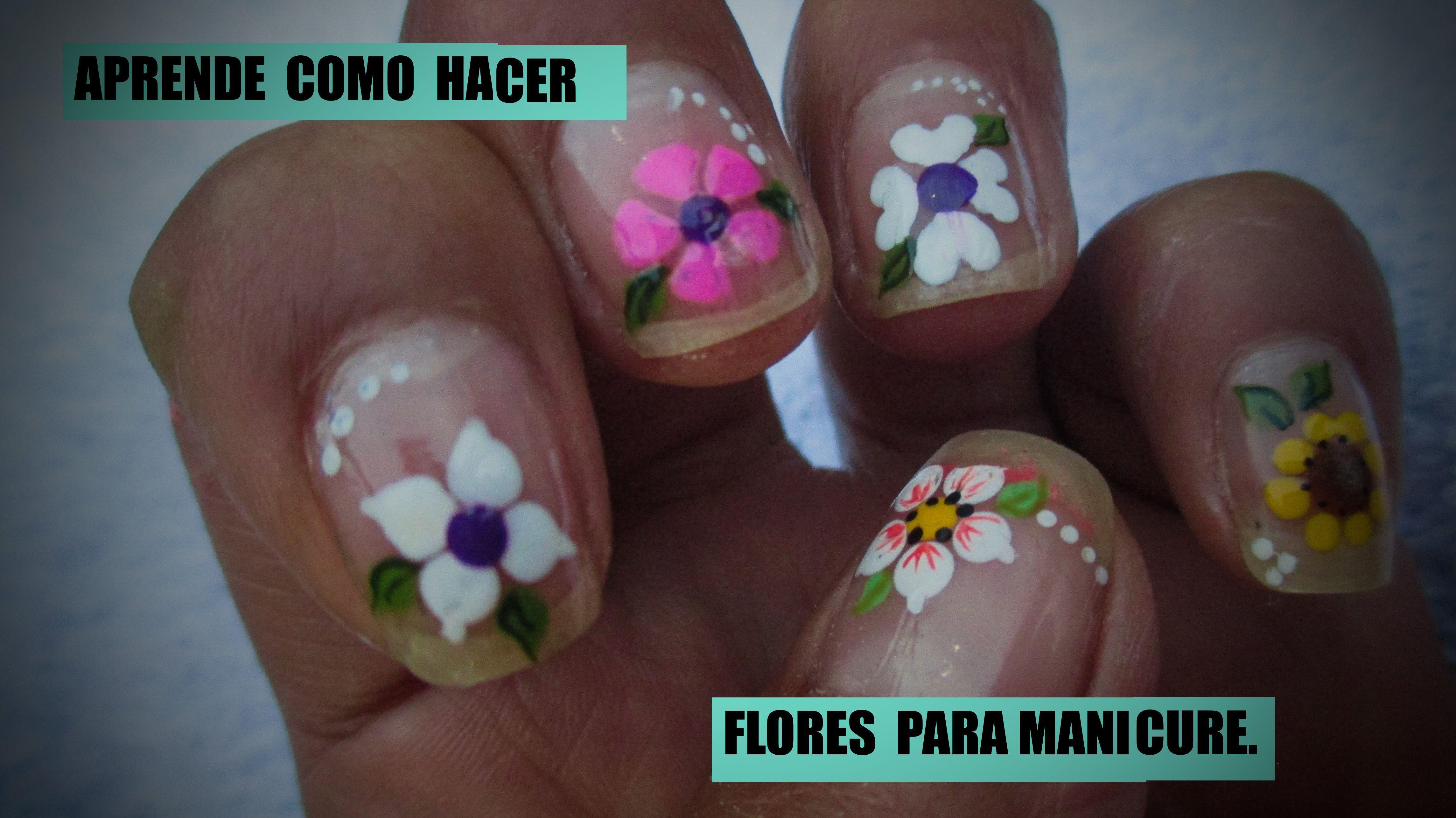 Manicura Aprende Basicas Flores Hacer Como Para Paso Tu Aaprende Como Hacer Flores Basicas Para Tu Manicura Manicure Manicure And Pedicure Toe Nails