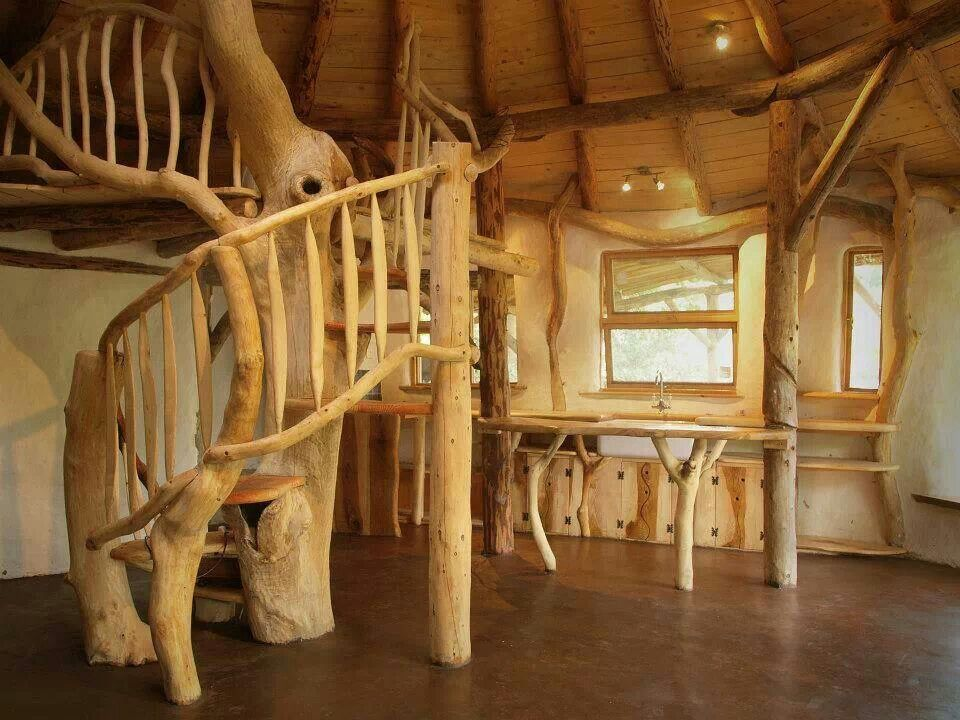 Best Cob And Tree Trunk Spiral Staircase Hobbithaus Rundhaus 400 x 300