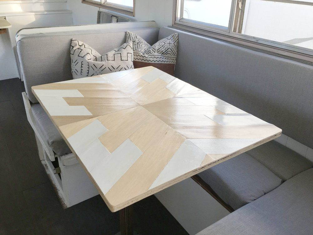 Camper Update Diy Geo Dinette Table Dinette Tables Dinette Camper Table
