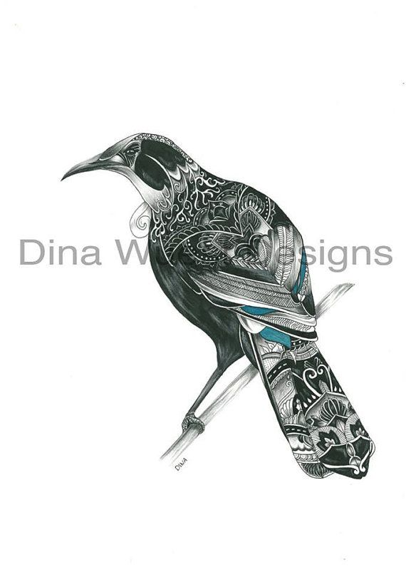 new zealand tui print ideas for tui tattoo pinterest tattoo. Black Bedroom Furniture Sets. Home Design Ideas